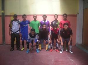 Tim Futsal Dpra KOrong Gadang bersama Ketua Dpra Haznul Azizi